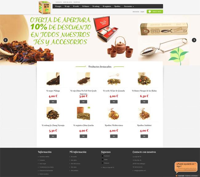 tienda online en prestashop para te