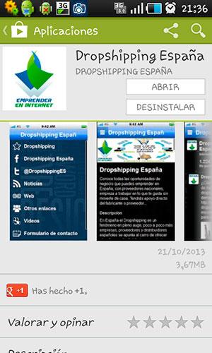 aplicacion android dropshipping españa