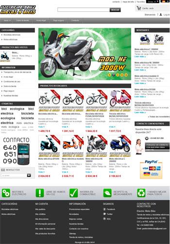 tienda dropshipping motos y bicis electricas